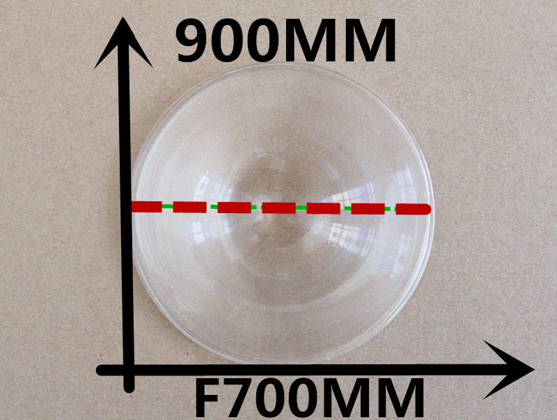 1pcs/lot large round PMMA fresnel lens diameter 900mm focal length 700 sun concentrated fresnel lens 2015(China (Mainland))