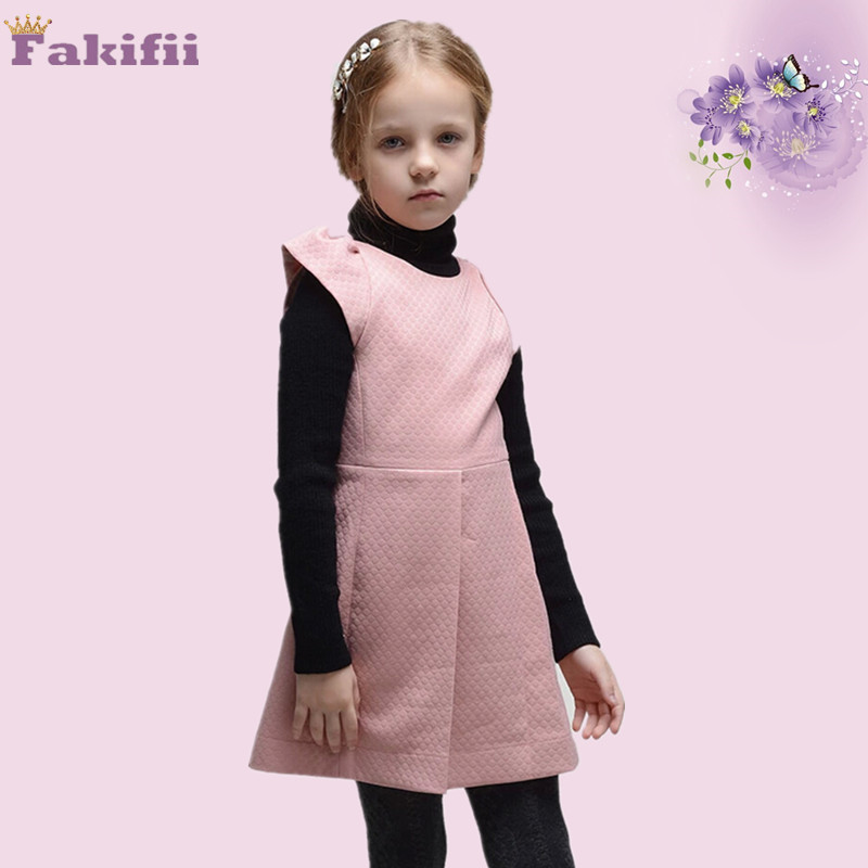 Children's Fashion Clothes Baby Girl Winter Dress Girls Fleece Thick Warm Bowknot Winter Dress,Vestidos Little Girl Party Dress(China (Mainland))