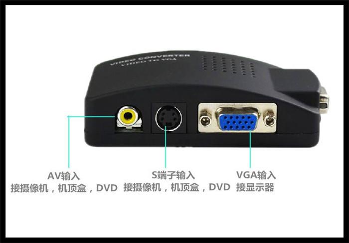 2014 Promotion Real No Rca Headphones Cabo Hdmi Hdmi Vga free Shipping Av/s Video To Vga Tv Cctv Bnc/rca Av Converter Adapter(China (Mainland))
