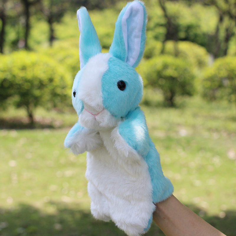 New hot Super Cute Plush Rabbit Doll Hand Puppet Toy Rabbit 10 Model Best Education Game Sleep Story Toy Birthday Gift(China (Mainland))