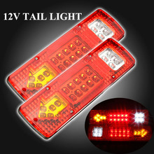 2x 19-LED UTE Truck Trailer Lorry Caravan Stop Rear Tail Indicator Light Lamp Free shipping(China (Mainland))