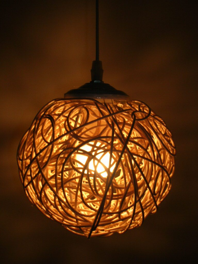 Free shipping handmade lamps knitted lamp small pendant light lamps lighting - Hand made lamps ...