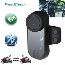 2016 Updated Version! FreedConn T-COMVB Motorcycle Helmets BT Bluetooth Interphone Headsets Helmet Intercom with FM Radio