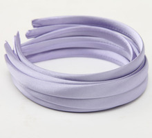 Girls Hair Clasp For Women Colored Satin Covered Resin Hairbands Ribbon Covered HeadBand 1.5cm Head Hoop Hair Accessory 5pcs/lot(China (Mainland))