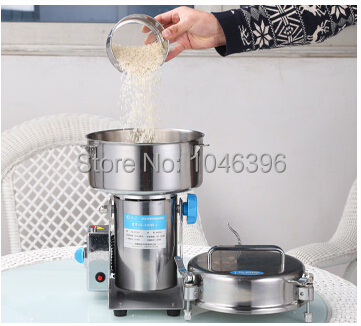 Stainless steel swing pulverizer chinese medicine grinder powder machine to play high speed pulverizer gristmill 2000g(China (Mainland))