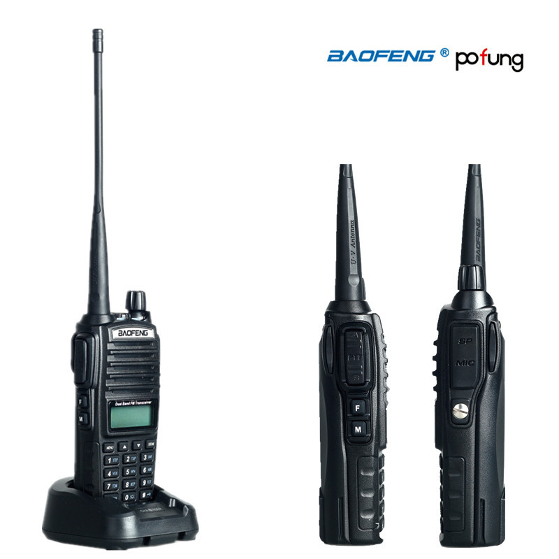 BaoFeng / Pofung uv-82 Walkie Talkie Dual Band Two Way Radio Double PTT Portable Radio uv 82(China (Mainland))