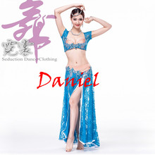 Egyptian Belly Dance Costume Sexy Lace Dance Long Skirt Flamenco Skirt Belly Dancing Clothes Dance Dress