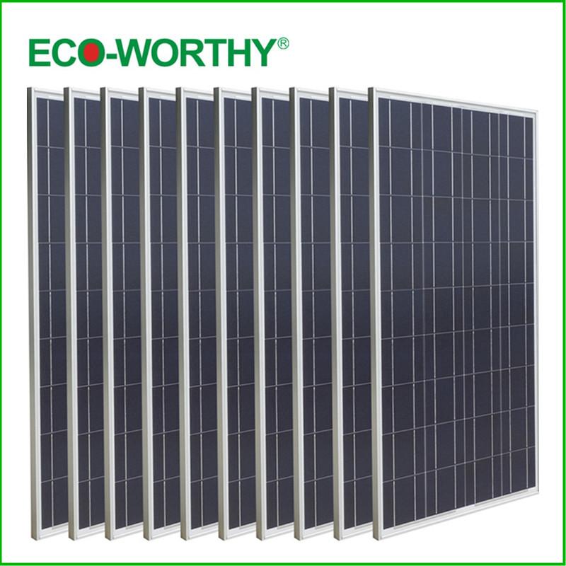 USA Stock 1000W Poly Solar Panel 10*100W Solar Module 12V Home Caravan Boat Power Supply(China (Mainland))