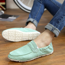 Flat Shoes For Male Sport Casual Soft Cotton Fabric Men Shoe Spring&Autumn Popular Footwears Solid color shoes(China (Mainland))