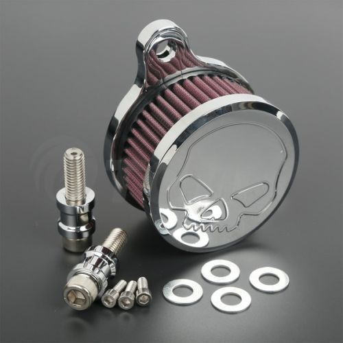 Skull Air Cleaner+Intake Filter System For Harley Sportster XL883 1200 04-15 TC<br><br>Aliexpress