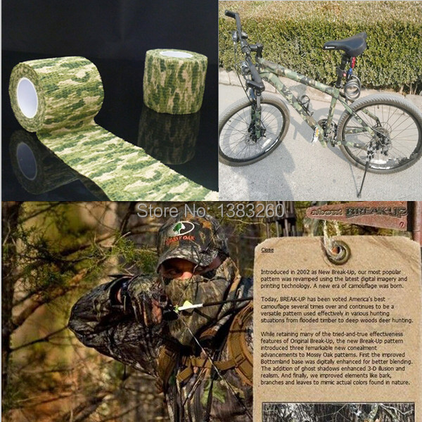 1PC 4 5m Length Kombat Army Jungle Camo Wrap Rifle Shooting Hunting Camouflage Stealth Tape Bandage