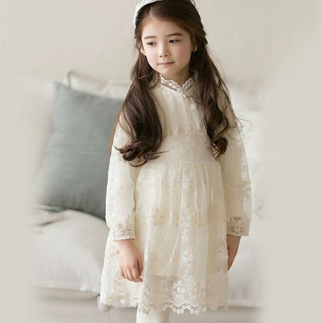 2015 Girls autumn lace 2pce dress ,Long sleeve dress+ lace blouse  5pcs/lot    TDL05<br><br>Aliexpress