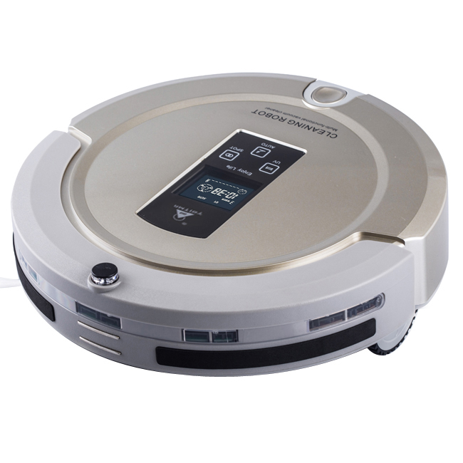 AmTidy A325 Multifunction Intelligent Robot Vacuum Cleaner with Sweep Vacuum Mop Sterilize LCD Touch Screen Robot Cleaner(China (Mainland))