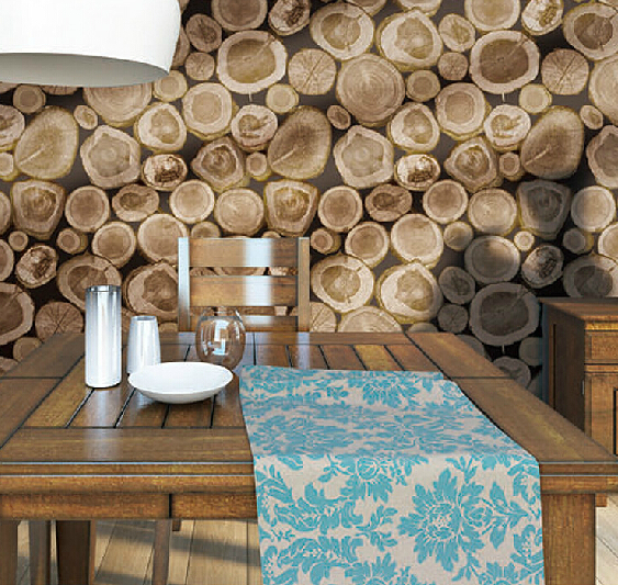 Buy Vintage Wood 3d Wallpaper Pvc Waterproof Mural Wall