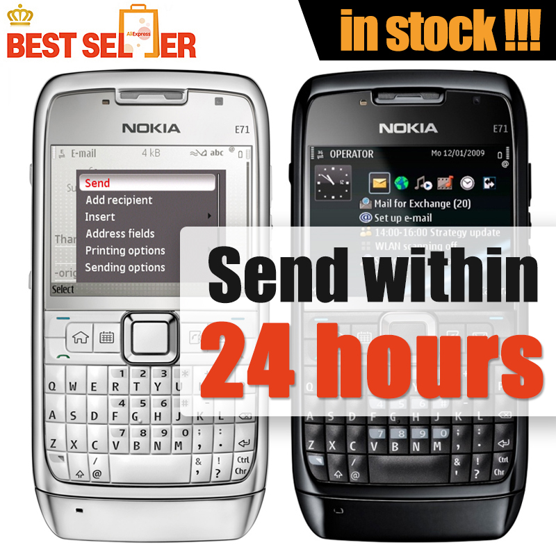 original phone Nokia E71 cell phone QWERTY Keyboard 3.2MP Wifi GPS Bluetooth Unlocked 3G phone Free Shipping(China (Mainland))