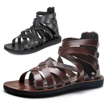 Mens Gladiator Sandals In Material Mens Gladiator Sandals