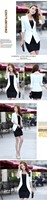 белый/желтый женщин твердые конфеты цветные тонкий кружевной блейзер леди 3/4 рукав feminino спецодежды костюм пальто куртка женская одежда s ~ xxl