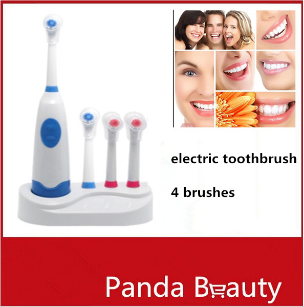 Rotary Electric Toothbrush Rechargeable Teeth Whitening Tooth Brush Battery Powered Denticlean Dental Equipment Adults&Childfren(China (Mainland))