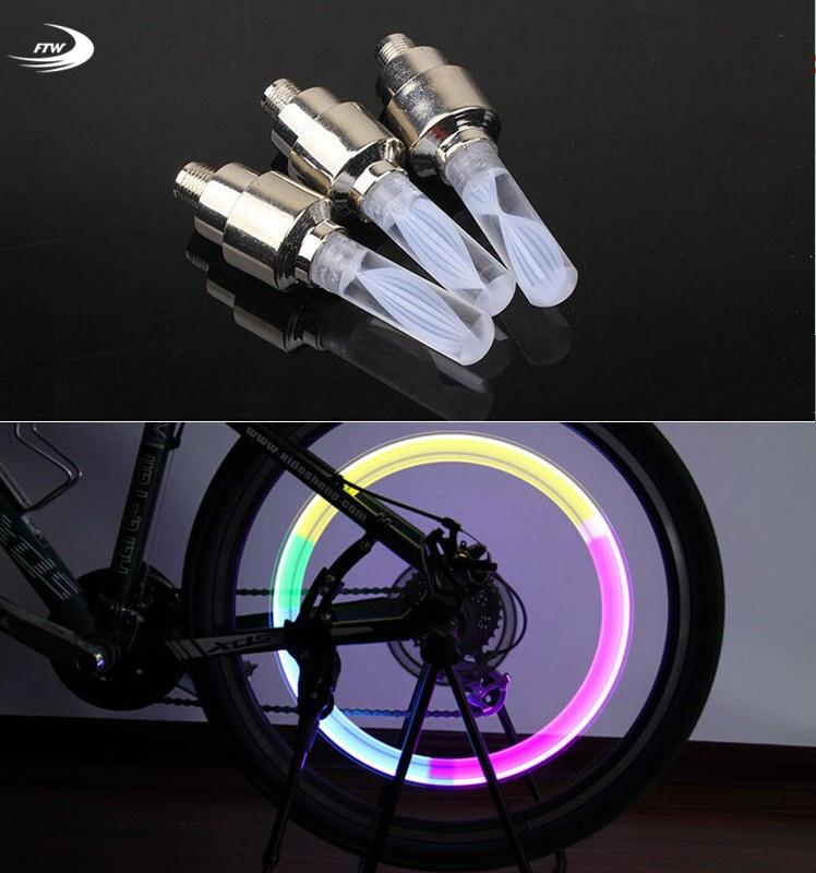 1pcs bike lights mtb mountain road bike bicycle lights LEDS Tyre Tire Valve Caps Wheel spokes LED Light auto lamp lamps BL0133(China (Mainland))