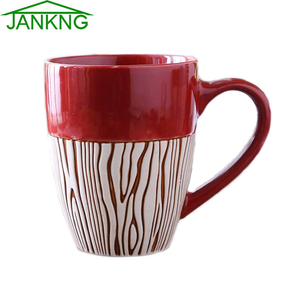 JANKNG 410mL Colorful Ceramic Coffee Mugs Cup Provence Style Painted Cup Coffee Mug Milk Tea Bottle Cup Elegance Mug Girl Gift(China (Mainland))