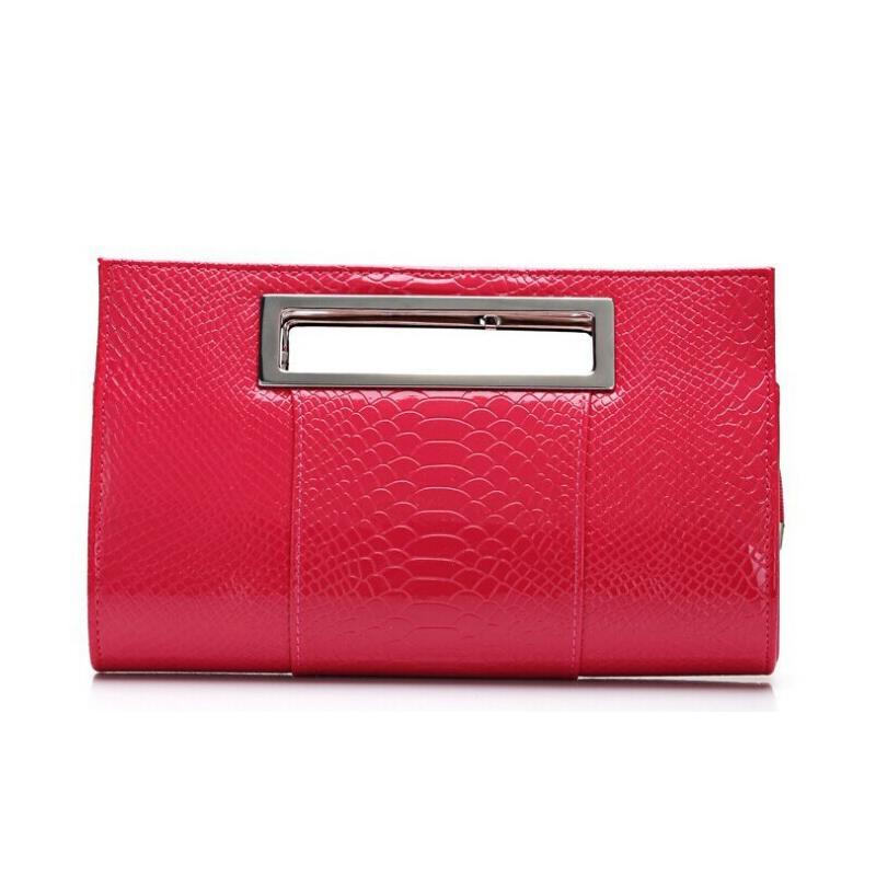 New Fashionable 2015 Designer Handbags Crocodile Grain Women's Day Clutches High-Grade Ladies Evening bag 9 Colors(China (Mainland))