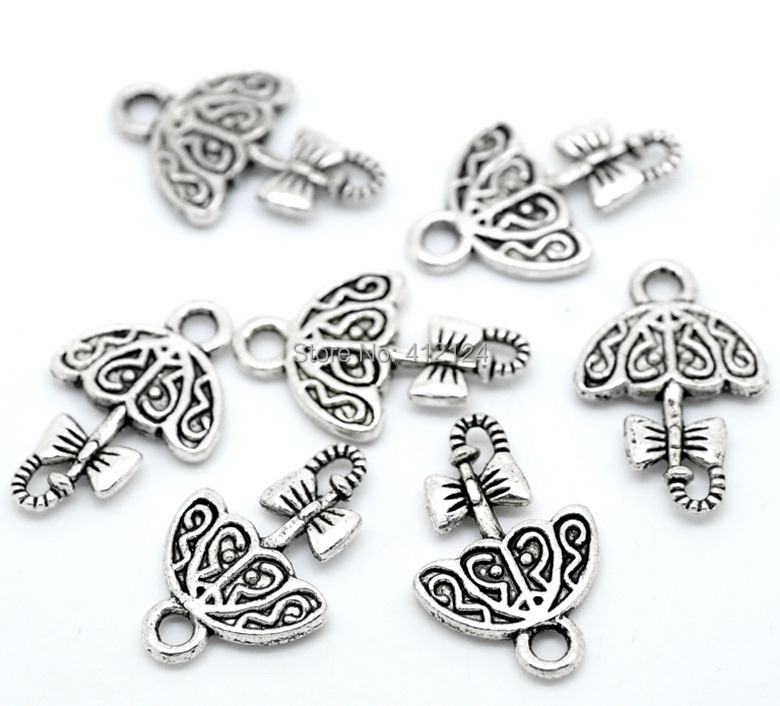 750 Pcs Free Shipping Wholesale Hot New DIY Silver Tone Lovely Bow-Knot Umbrella Charms Pendants Jewelry Findings 19x12mm<br><br>Aliexpress