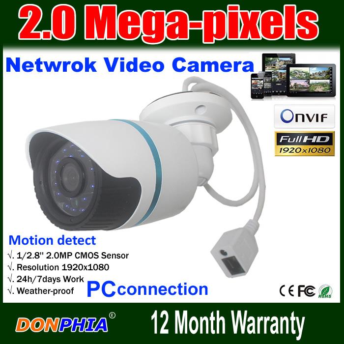 Free shipping 1080P Network Waterproof IP Camera 2Megapixel CMOS Sensor(IMX122) Onvif H.264 Night Vision 24 IR Led(China (Mainland))