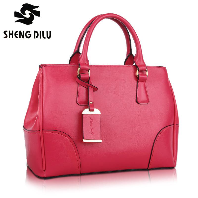 TOP QUALITY New 2015 women genuine leather handbags EUROPEAN STYLE vintage Plain women shoulder bag handbag women messenger bags(China (Mainland))