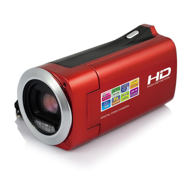 "On Discount HD 720P Digital video camera with 3MP CMOS Sensor 2.7"" LCD 4x digital zoom digital camcorder free shipping(China (Mainland))"