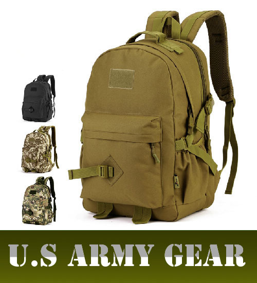 Hunting Outdoor Hiking Camping Backpack Military Tactical Waterproof Ride Charge Packet Man Laptop Bags 40L Camouflage Backpacks