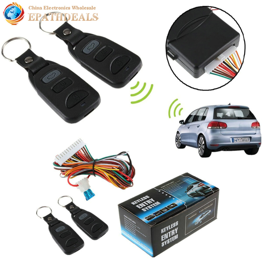 Universally Auto Car Vehicle Remote Control Central Door Lock Locking Keyless Entry System Kit Car Styling Accessories(China (Mainland))