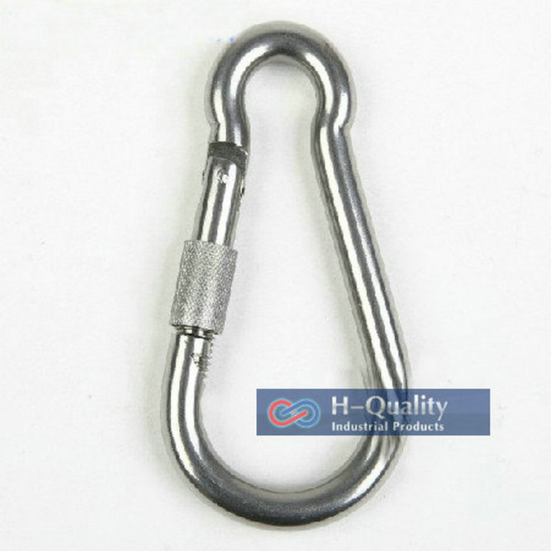 Free Shipping Wholesales M10X100MM large stainless steel carabiner spring DIN5299C snap hooks with screw<br><br>Aliexpress
