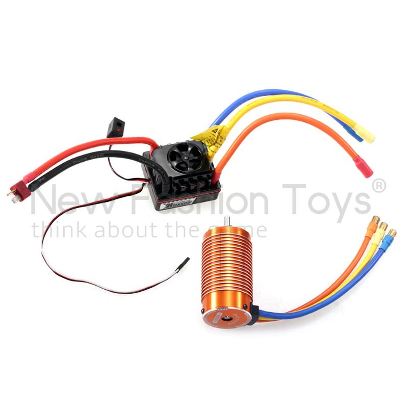 4076 Sensorless Motor +150A ESC for 1/8 cars 1300KV RC Remote Control Car<br><br>Aliexpress