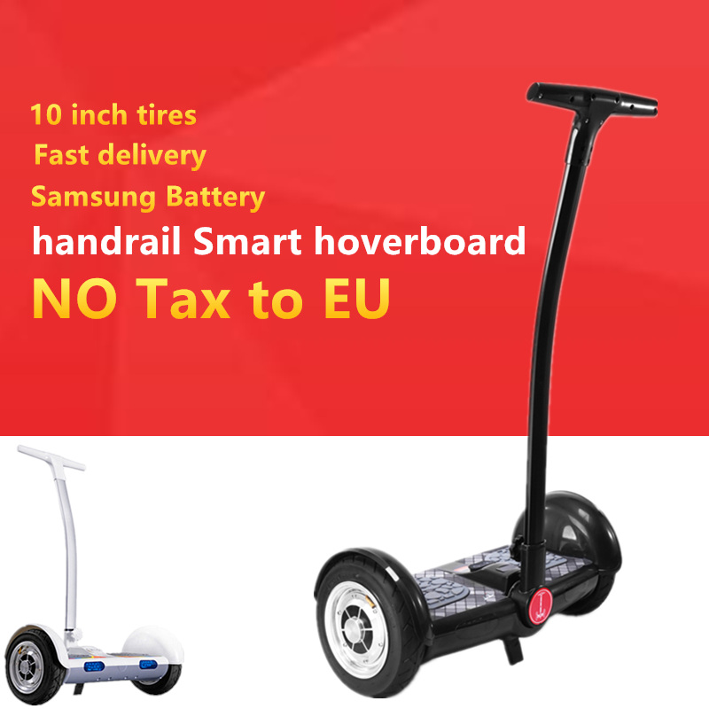 10 '' inch hoverboard scooter 2 wheels electric standing scooter with handrail Smart Motorcycle self balancing electric scooter