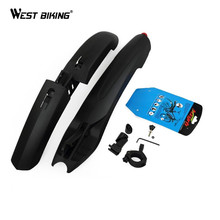 Buy WEST BIKING Bicycle Fender LED Light Mountain Cycling Front Rear Bicycle Durable Fenders LED Light Plastic Bike Fender for $13.04 in AliExpress store