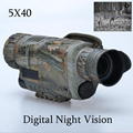 Hunting Infrared digital Night vision monocular scope 5x40 for 200 Meter zoom 5X IR 5MP digital
