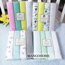 (4 pcs/lot bed sheet)102*76cm newborn Baby bed sheets crib Flannel and Cotton infant cot sheets(China (Mainland))