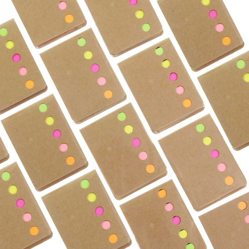 Novelty Kraft Paper Cover Candy Color Memo Pad N-times Sticky Notes Bookmark Notepad School Office Supply Escolar Pepalaria(China (Mainland))