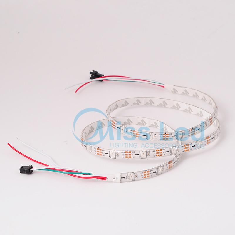 Wholesale 1M 30 led/m WS2812B WS2812 RGB led strip IP65 White PCB RGB led pixel strip SMD 5050 Individually Digital samrt strip(China (Mainland))