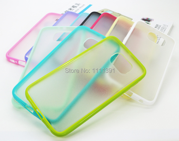 30pcs/lot For Samsung Glaxy S6 G9200 Accessories TPU Candy Color Transparent Back Body Case Cover Cheap Case Cover