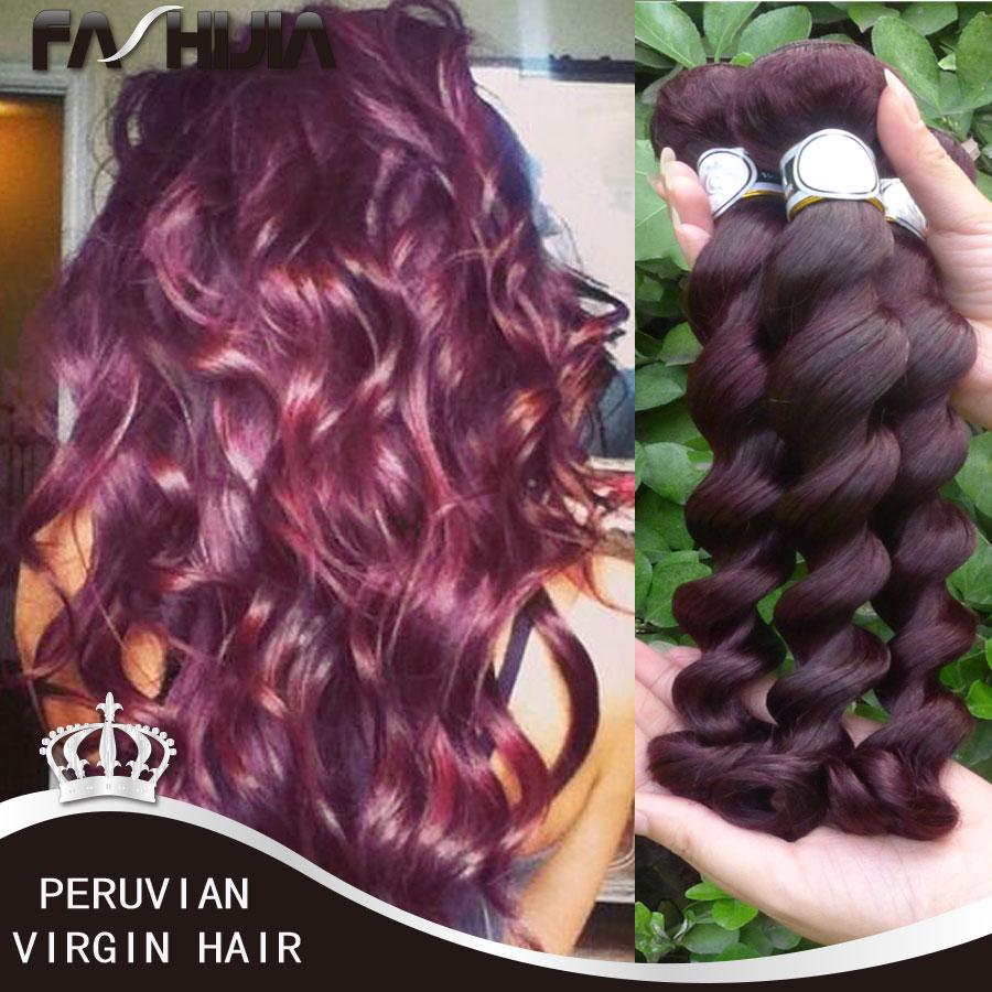 Bele Virgin Hair Peruvian Loose Wave Burgundy Weave 3 Bundle Deals Remy Peruvian Human Hair Loose Wave 99j# Mocha Hair Products<br><br>Aliexpress