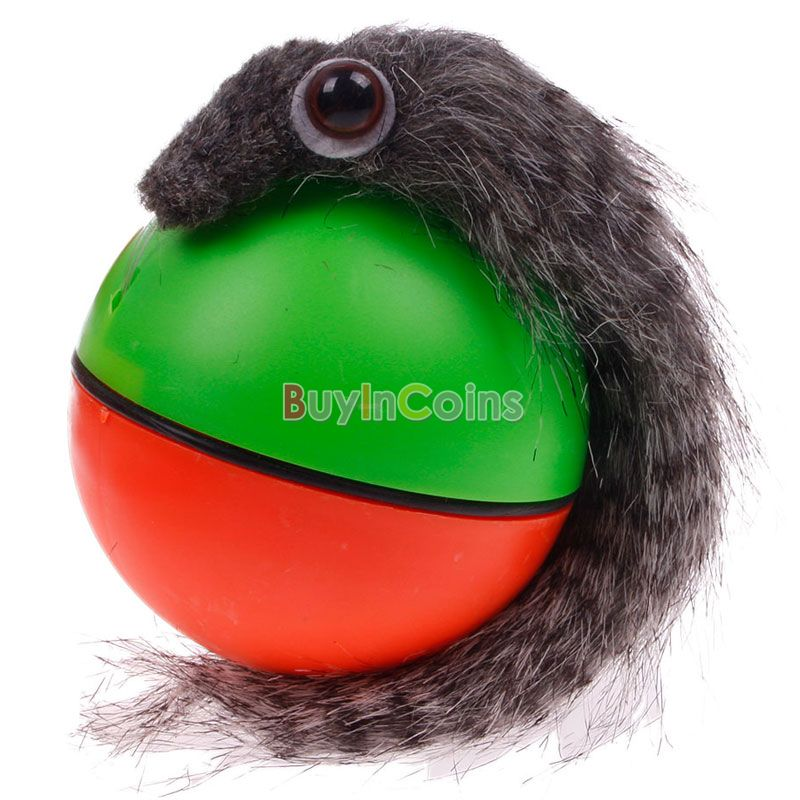 Funny Rolling Ball Pet Dog Cat Weasel Motorized Appears Jumping Moving Alive Toys US AS #50567(China (Mainland))