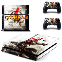 God of War PS4 Sticker Protection Skin Cover PS4 Skin Sticker For PlayStation 4 PS4 Console 2Pcs Free Controller Cover Decals