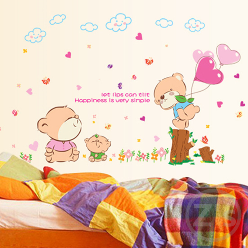 stickers Winnie the Pooh stickers in the nursery children wallpapers children sticker baby room wallpaper AY7090(China (Mainland))