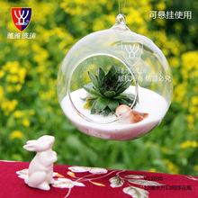 YYGLASS Brand Cute Handmade  Hot Clear Glass Globes With 1 Hole Flower Hanging Plant Terrarium Vase  Wedding  Home Decoration(China (Mainland))