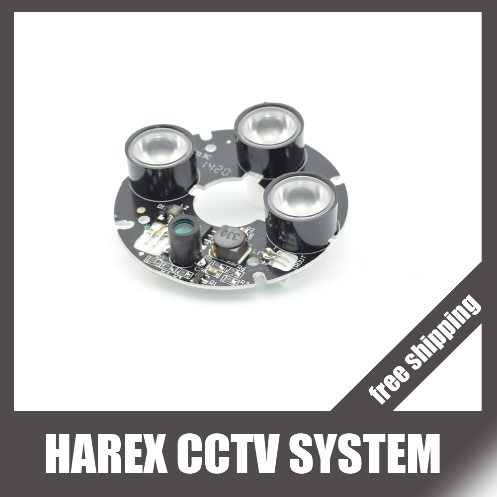 Security Camera LED IR Infrared Illuminator Board Plate with 3pcs array leds. Free Shipping(China (Mainland))