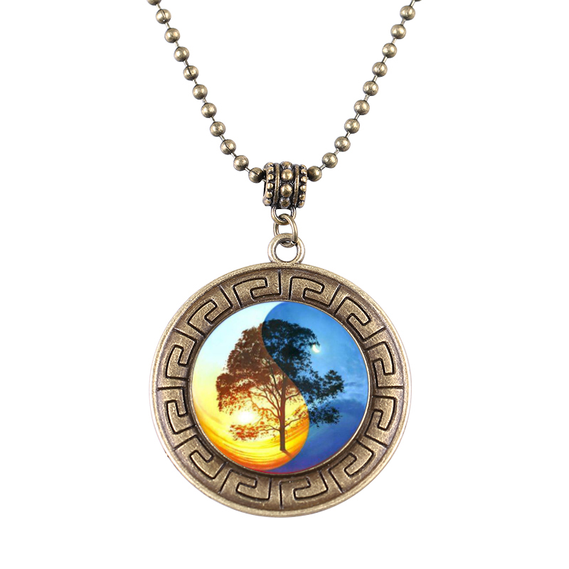 1pcs/lot Tree Of Life Shield Pendant Necklace Women & Men Taichi arbol de la vida Vintage Necklace Jewelry Free Shipping(China (Mainland))