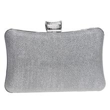 NEW diamond silver evening bags top quality gold clutch bag blue bag party wedding bridal purse
