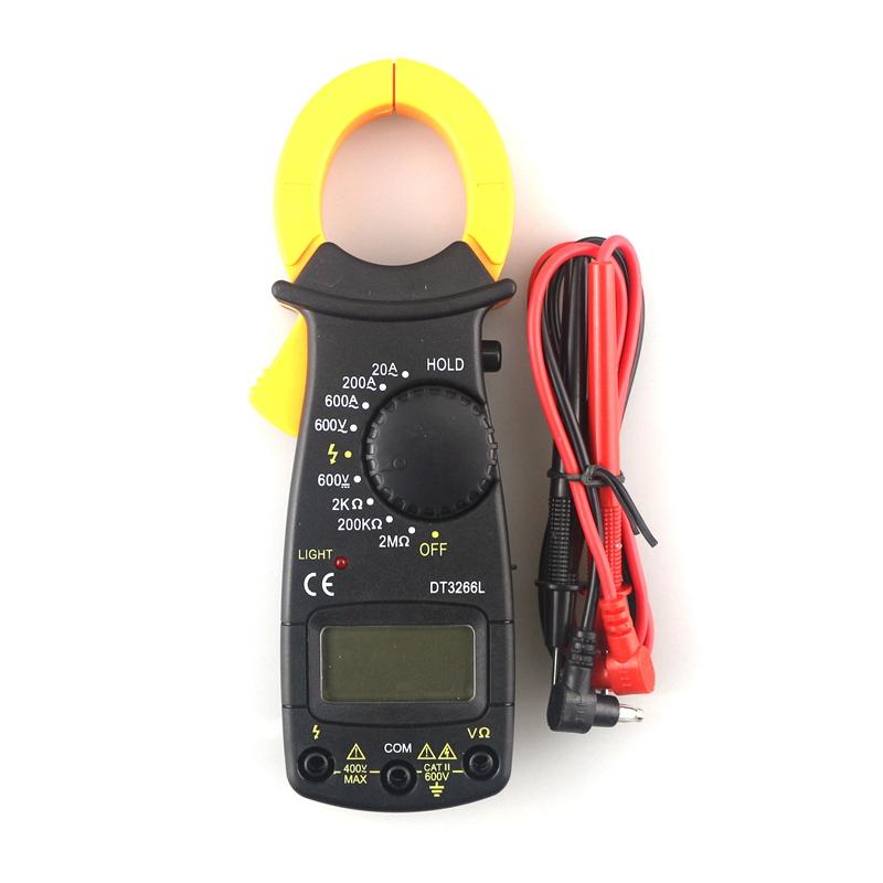 DT-3266L Digital Clamp Multimeters Ampermeter AC/DC Voltmeter Manual Ranging Multi-meter<br><br>Aliexpress