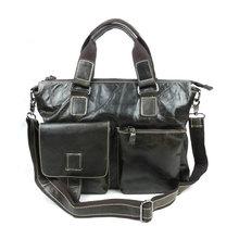 Подлинной натуральной винтаж масло-воск доставка-глянцевая кожа мужчин портфель деловая сумка подходит для 14 » ноутбук # B260PR45